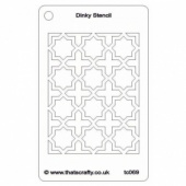 That's Crafty! Dinky Stencil - Moroccan Background - TC069