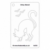 That's Crafty! Dinky Stencil - Scaredy Cat - TC033