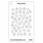 That's Crafty! Dinky Stencil - Screwheads - TC052