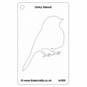 That's Crafty! Dinky Stencil - Robin Silhouette - TC058