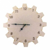 That's Crafty! Surfaces MDF Clock - Cog
