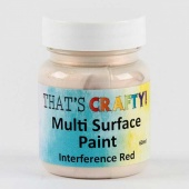 That's Crafty! Multi Surface Paint - Interference Red