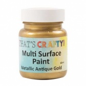 That's Crafty! Multi Surface Paint - Metallic Antique Gold