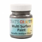 That's Crafty! Multi Surface Paint - Metallic Antique Silver