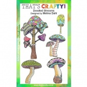 That's Crafty! Clear Stamp Set - Doodled Shrooms