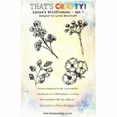 That's Crafty! Clear Stamp Set - Lynne's Wildflowers - Set 1 - A5
