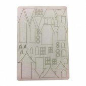 That's Crafty! Surfaces Bits and Pieces Greyboard Sheet - Houses