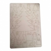 That's Crafty! Surfaces Bits and Pieces Greyboard Sheet - Christmas Tree