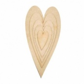 That's Crafty! Surfaces MDF Hearts - Sampler Pack