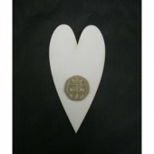 That's Crafty! Surfaces White/Greyboard Hearts - Pack of 12 - #3