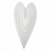 That's Crafty! Surfaces White/Greyboard Hearts - Sampler Pack
