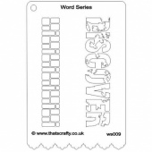 That's Crafty! Word Series Stencil - Discover - WS009