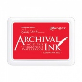 Ranger Archival Ink Pad Designer Series - Carnation Red
