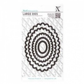 Xcut Nesting Dies - Scalloped Oval Large