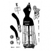 Character Constructions Clear Stamp Set  - The Mannequin Cafe No. 1