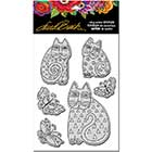 STAMPENDOUS! Laurel Burch Cling Rubber Stamps