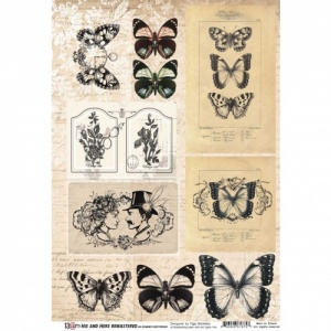 13 Arts A4 Paper Sheet - His and Hers Remastered - Elements Butterflies