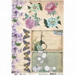 13 Arts A4 Paper Sheet - Vintage Summer - Vintage Flowers
