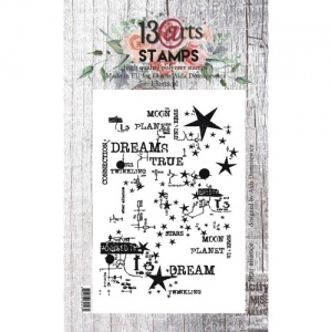 13 Arts A6 Clear Stamp - Star Alliance