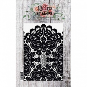 13 Arts A7 Clear Stamp Set - Lace