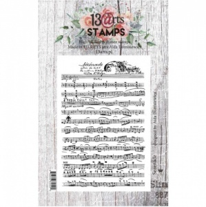 13 Arts A7 Clear Stamp - Serenade