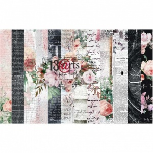 13 Arts 12ins x 12ins Paper Pack - Rose Fields