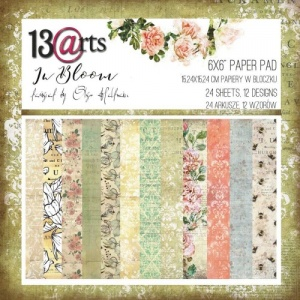 13 Arts 6ins x 6ins Paper Pack - In Bloom
