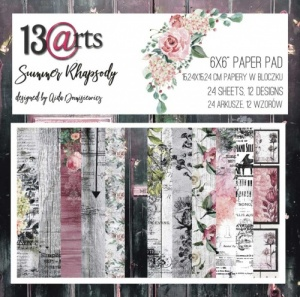 13 Arts 6ins x 6ins Paper Pack - Summer Rhapsody