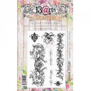13 Arts Clear Stamp Set - Vintage Bouquet