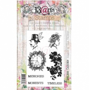 13 Arts Clear Stamp Set - Timeless Garden