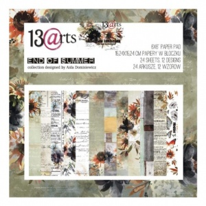 13 Arts 6ins x 6ins Paper Pack - End of Summer