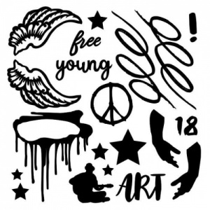 13 Arts Chipboard - Young and Free