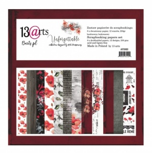 13 Arts 12ins x 12ins Paper Pack - Unforgettable
