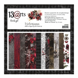 13 Arts 12ins x 12ins Paper Pack - Victoriana