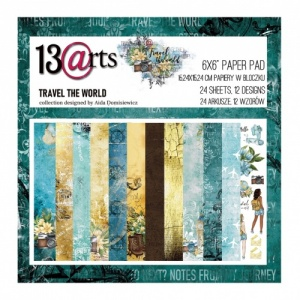 13 Arts 6ins x 6ins Paper Pack - Travel the World