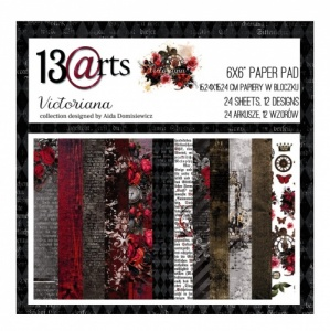 13 Arts 6ins x 6ins Paper Pack - Victoriana