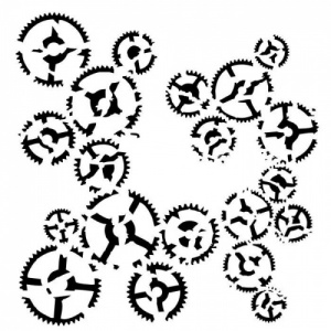 13 Arts Stencil - Victoriana - Dance of Gears