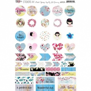 13 Arts A4 Stickers - Pastel Spring
