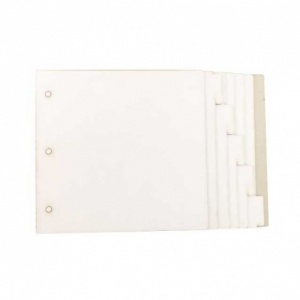 That's Crafty! Surfaces White/Greyboard Journal - 6ins x 6ins