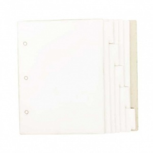 That's Crafty! Surfaces White/Greyboard Journal - 5ins x 7ins