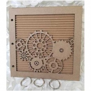 A Vintage Girl Steampunk Gears Chipboard Album