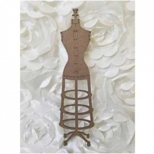 A Vintage Girl Chipboard Vintage Dress Form