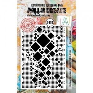 AALL & Create A7 Stamp #484 - Reverse Diamonds