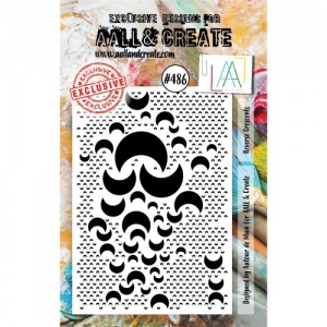 AALL & Create A7 Stamp #486 - Reverse Crescents