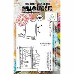 AALL & Create A7 Stamp Set #476 - Happy Hour