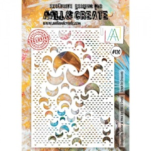 AALL & Create A4 Stencil #120 - Crush on Crescents
