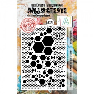 AALL and Create A7 Stamp #374 - Reverse Hexagons