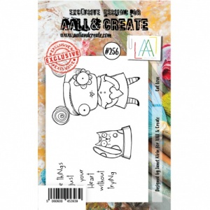 AALL and Create A7 Stamp Set #256 - Cat Love