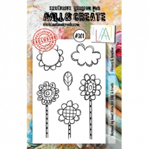AALL and Create A7 Stamp Set #301 - Flowers and Sunshine