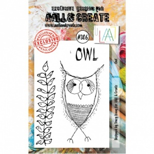 AALL and Create A7 Stamp Set #306 - Owl